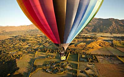 Ballooning in Queenstown NZ